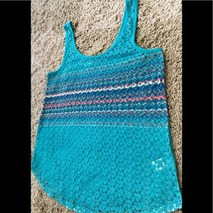 🛍Tank top with screen print knitted body